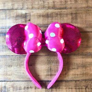 Disney Parks Hot Pink Minnie Ears headband